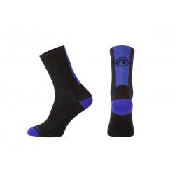 Skarpetki kolarskie Stripe Long czarno-niebieskie L(42-44) ACCENT