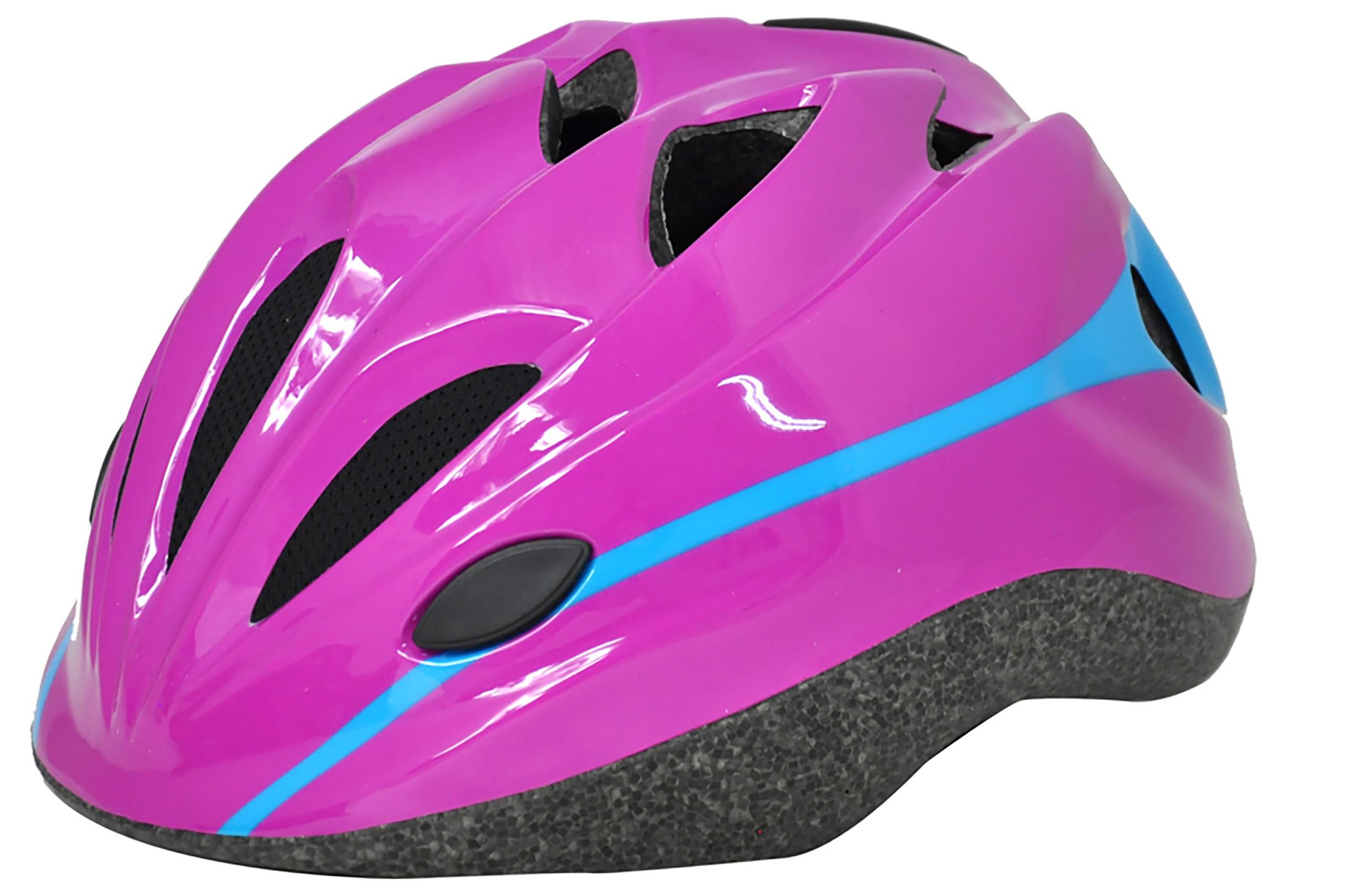 Kask rowerowy dziecięcy AXER COOL różowo-niebieski S