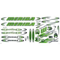 Naklejka KR4 - MERIDA zielono-srebrna