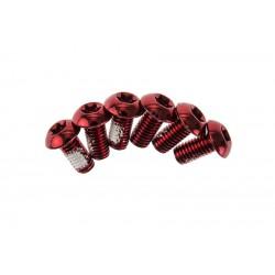 Śruby do mocowania tarczy hamulcowej DARTMOOR czerwone 6 sztuk