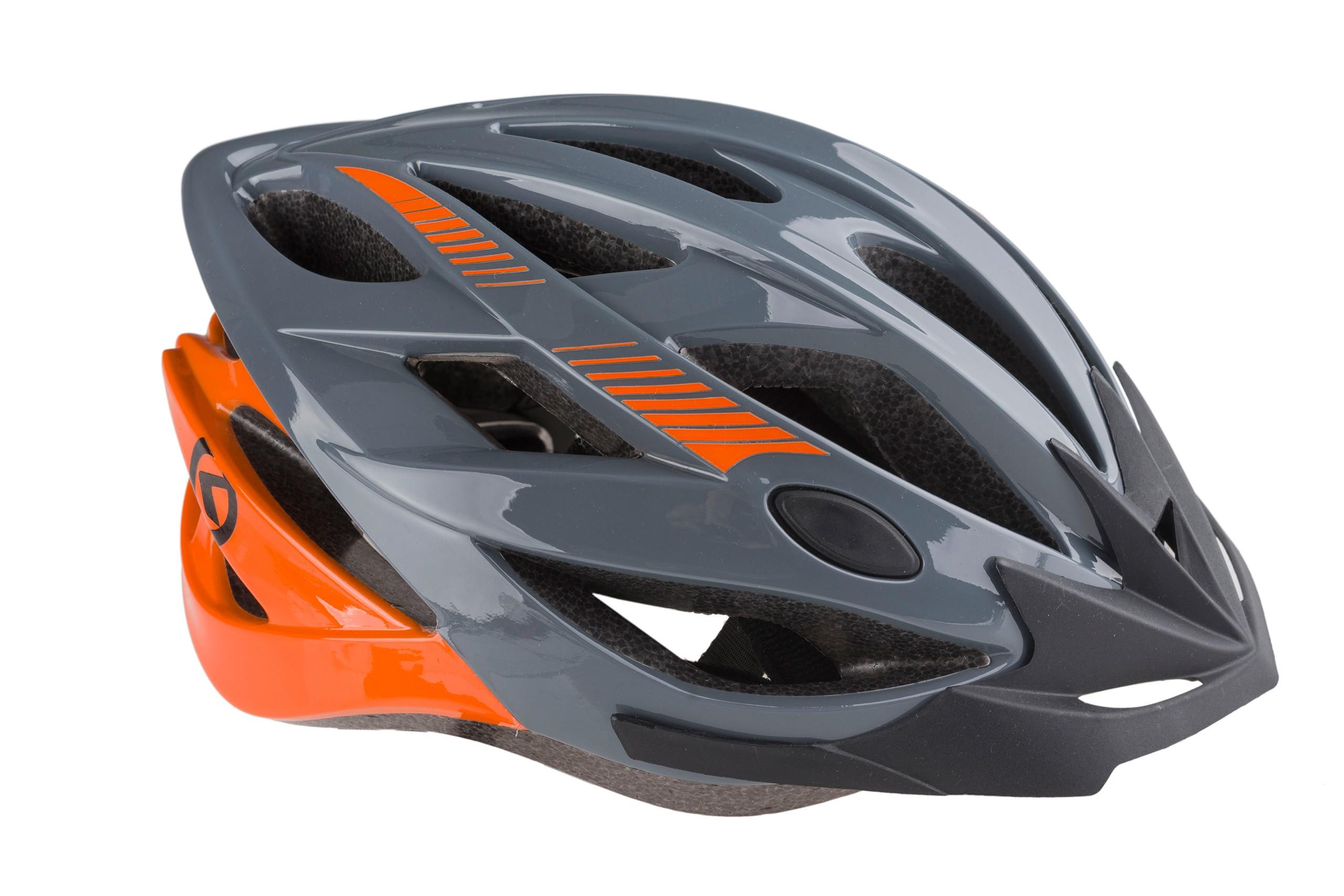 Kask rowerowy KELLYS REBUS M/L szaro-pomarańczowy