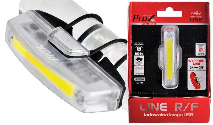 Lampa Rowerowa Przednia Prox Line F Led Cob Biala Usb Lampki Mi