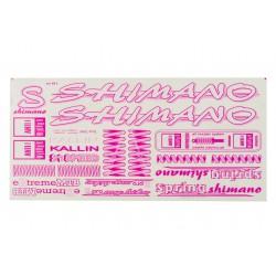 Naklejki na rower KR4 - SHIMANO różowe