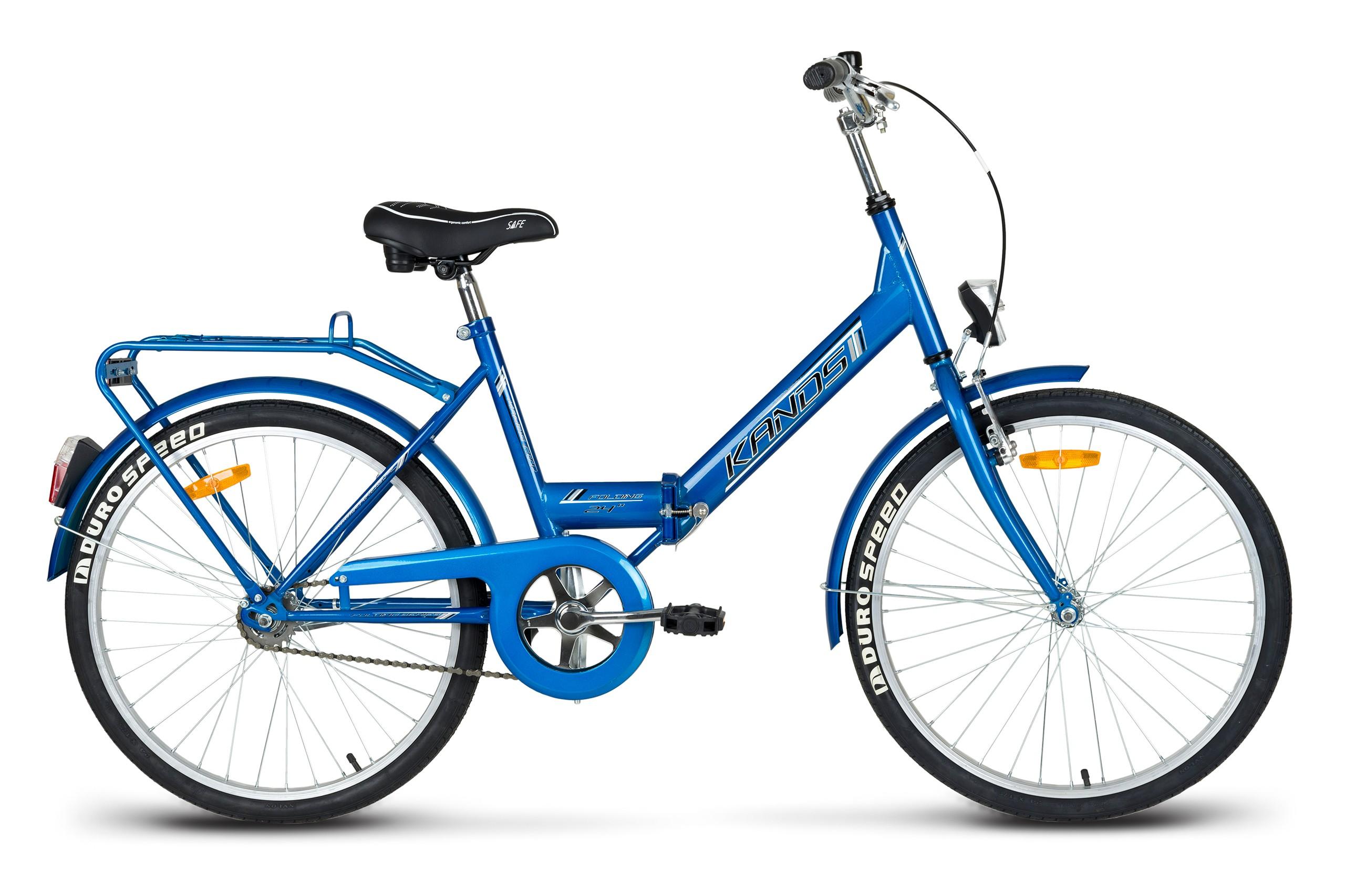 Rower miejski 24 KANDS LAGUNA FOLDING składak Favorit niebieski