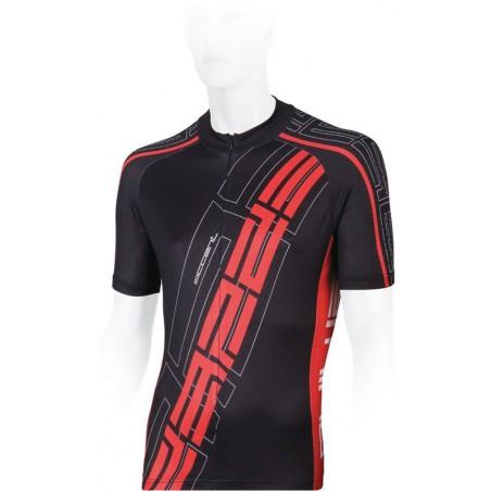 Koszulka rowerowa ACCENT EL NINO S czarno-czerwona