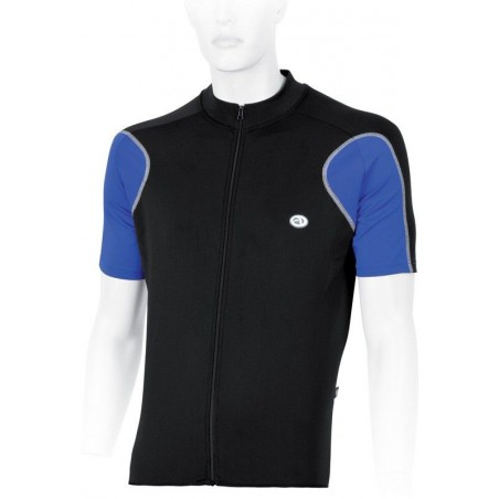 Koszulka rowerowa ACCENT DURANGO S czarno-niebieska