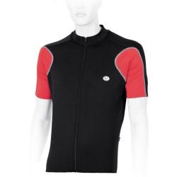 Koszulka rowerowa ACCENT DURANGO S czarno-czerwona