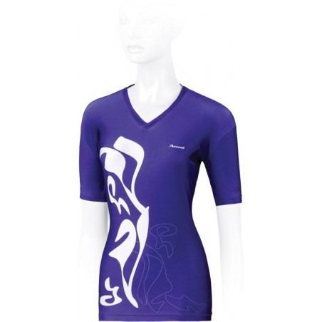 Koszulka ACCENT BREVA fiol-biała, R-S