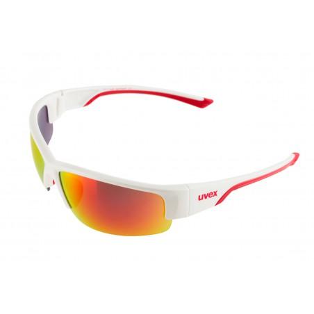 Okulary rowerowe UVEX Sportstyle 215 biało-czerwone