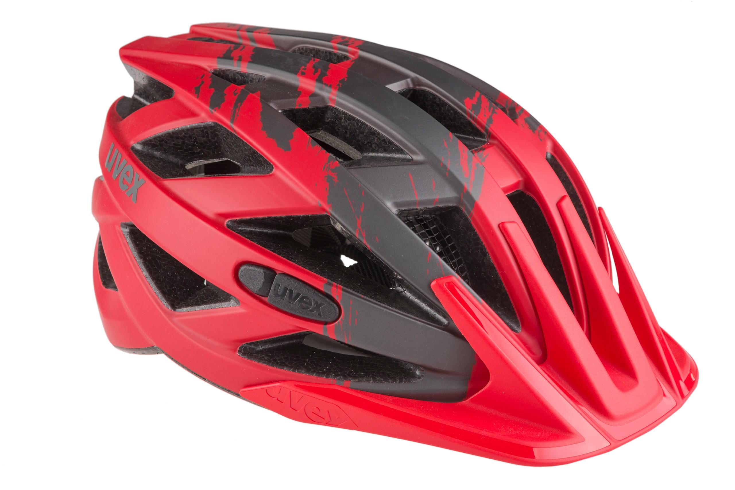 Kask rowerowy UVEX I-VO cc M 52-57cm czarno-czerwony mat