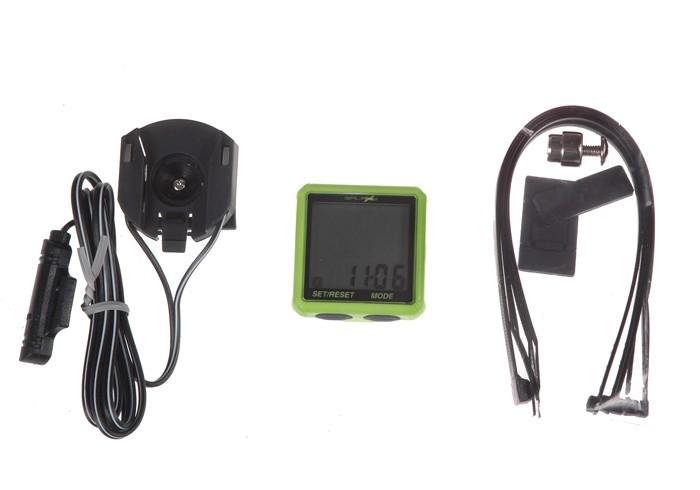 Licznik rowerowy GALAXY X8 8-fun. zielony
