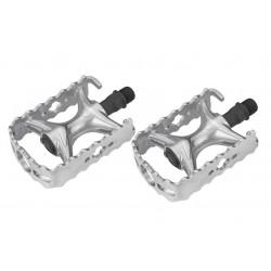 Pedały rowerowe aluminiowe WEELGO LU-A9 ATB/TREKING srebrny
