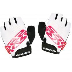 Rękawiczki KROSS FLOW damskie biało-różowe L
