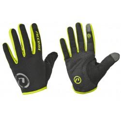 Rękawiczki ACCENT HERO czarno-żółe fluo M z długimi palcami