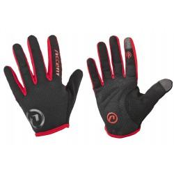 Rękawiczki ACCENT HERO czarno-czerwone M z długimi palcami