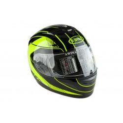 Kask moto. AWINA TN-0700B-A1 /integralny/ czarno-zielony XS