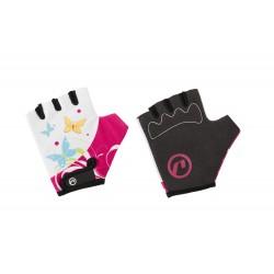 Rękawiczki ACCENT DAISY biało-różowe S/M