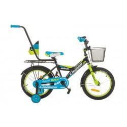 Rower 16 LIMBER BOY zielono-niebieski