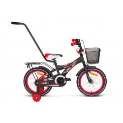 Rower 16 MEXLLER BMX czarno-czerwony mat + koszyk 17r.