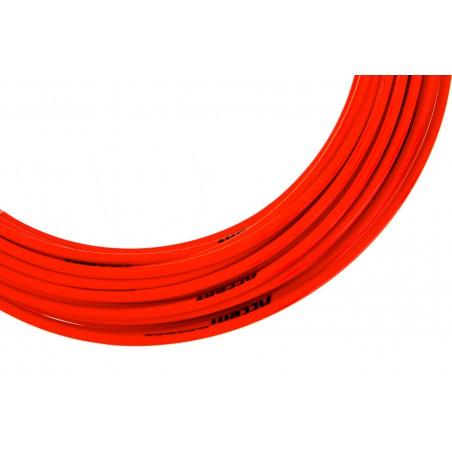 Pancerz przerzutkowy ACCENT 4mm x 3m czerwony fluo