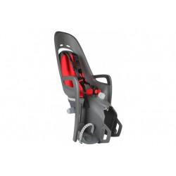 Fotelik rowerowy HAMAX Zenith Relax Adapter szary czerwona wyściółka 2017