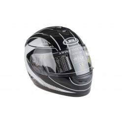 Kask motocyklowy AWINA TN0700B-A3 /integralny/ czarno-biały L