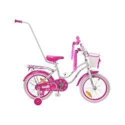 Rower 16 MEXLLER SISI biało-różowy