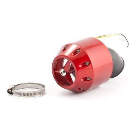 Filtr powietrza obudowa LED 32mm CZERWONY