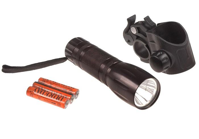 Lampa przednia bateryjna 3-funkcje 1-Watt  XC-768 czarna