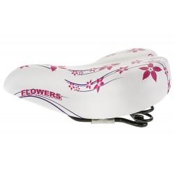 Siodełko Monte Grappa FLOWERS biało-różowe