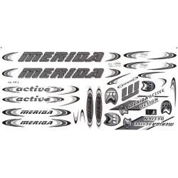 Naklejka KR4 - MERIDA grafitowa