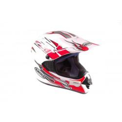 Kask moto. AWINA TN8686-30 ENDURO biało-czerwony