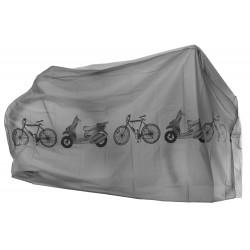 Pokrowiec wodoszczelny na rower 210x60x110 szary