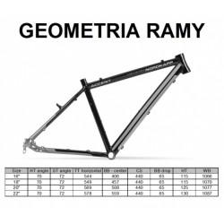Rama ACCENT NORDKAPP trek. czarno-tytanowa 700C 18