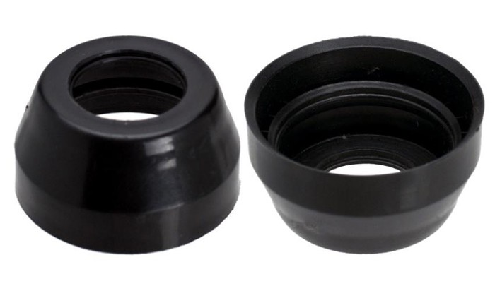 Nakładka na stery kierownicy NECO 1 1/8  H-131 plastikowe czarna