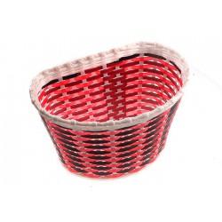 Koszyk na kierownicę dziecięcy plast. czerwono-czarny