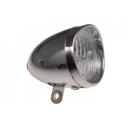 Lampa przednia bateryjna 1-dioda XC-764  RETRO CHROM