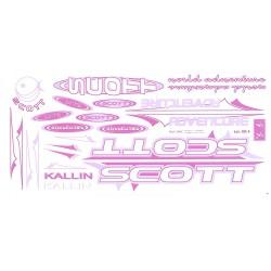 Naklejka KR4 - SCOTT różowo-biała
