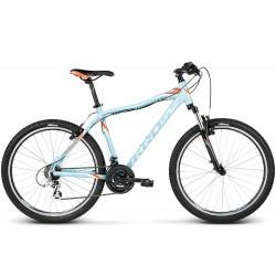 Rower KROSS 26 LEA F2 MTB T Altus błękitno-pomarańczowo-biały połysk