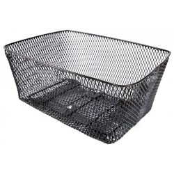 Koszyk na bagażnik BP-3 siatka przykręcany duży czarny