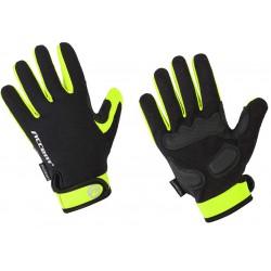 Rękawiczki ACCENT BORA LONG czarno-zielone M z długimi palcami