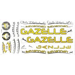 Naklejka KR4 - GAZELLE żółta