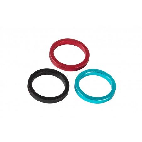 Podkładka dystansowa ACCENT sterów aluminiowa 10mm czerwona