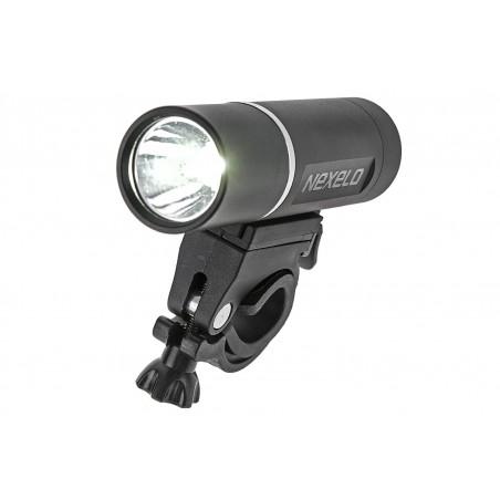 Lampa przednia bateryjna 2-fun. 1-dioda 3W wodoodporna