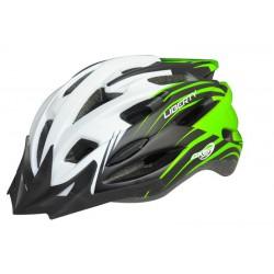 Kask rowerowy LIBERTY A1477-XL  czarno-zielono-biały