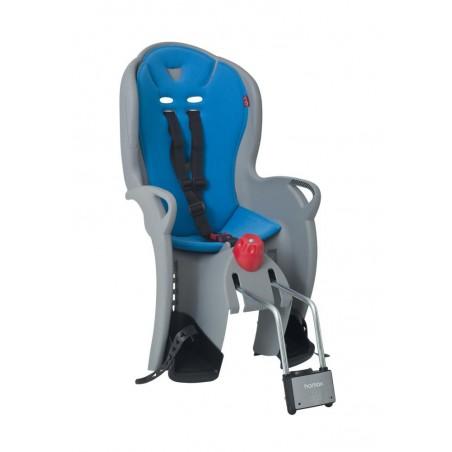 Fotelik rowerowy HAMAX SLEEPY do ramy regulowany szaro-niebieski