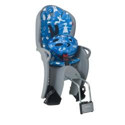 Fotelik rowerowy HAMAX KISS szaro-niebieski+kask