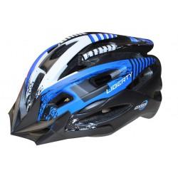 Kask rowerowy LIBERTY A0822-XL czarno-niebieski
