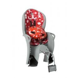 Fotelik rowerowy HAMAX KISS szaro-czerwony + kask