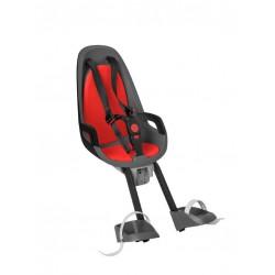 Fotelik rowerowy HAMAX CARESS OBSERVER szaro-czerwony na wspornik kierownicy